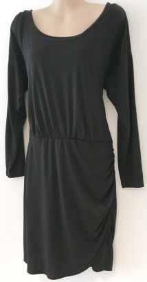 H&M MAMA BLACK JERSEY TUNIC NURSING DRESS SIZE L 14-16